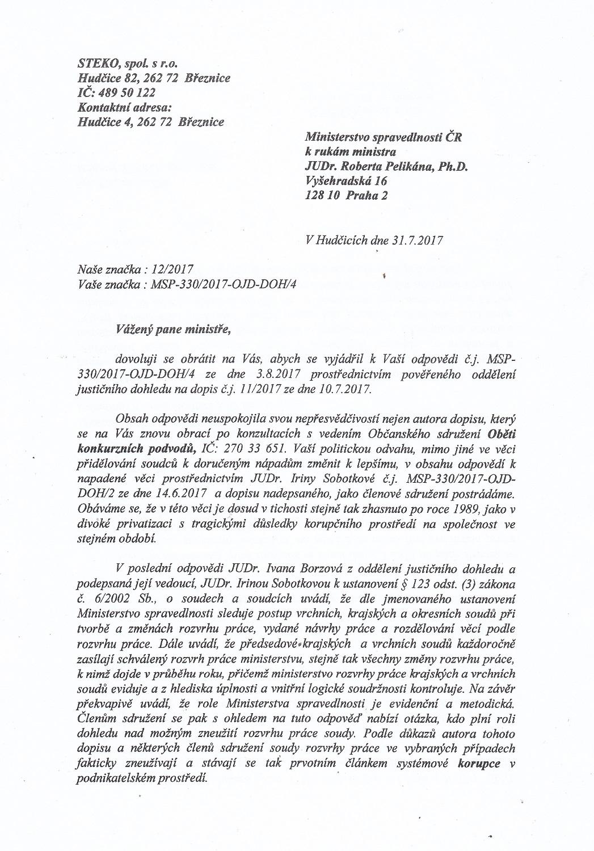 Dopis 1 Sedlak Pelikanovi 310717