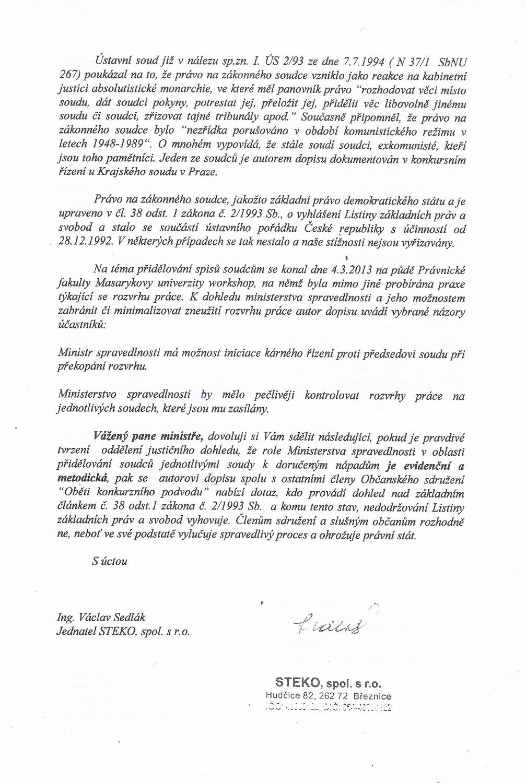 Dopis 2 Sedlak Pelikanovi 310717