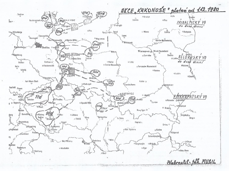 Krkonose 1 mapa