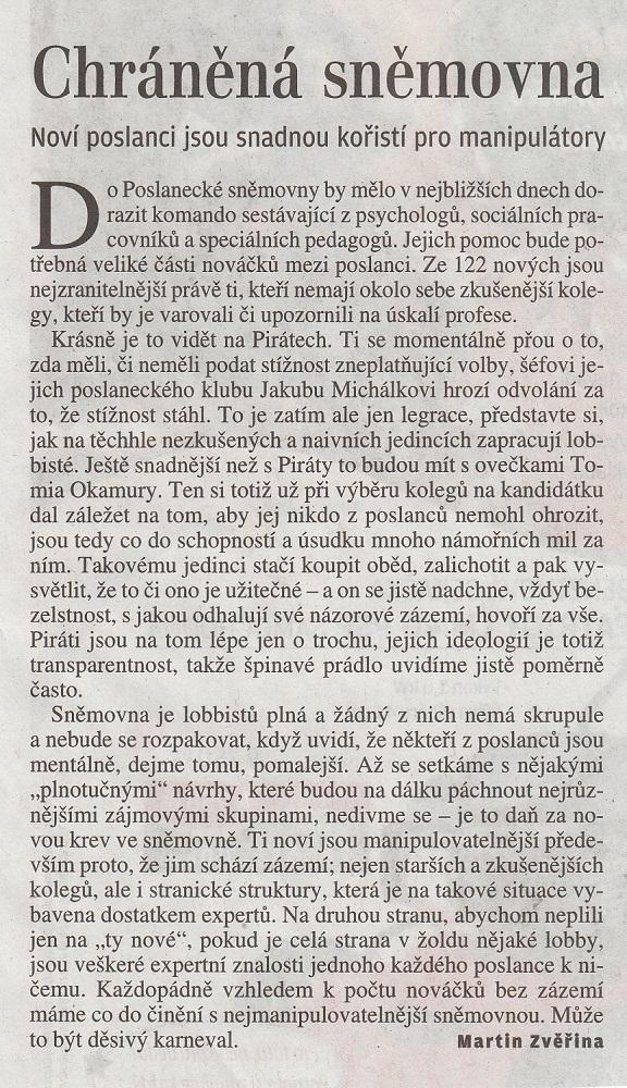 LN MZ Chranena Snemovna 011217