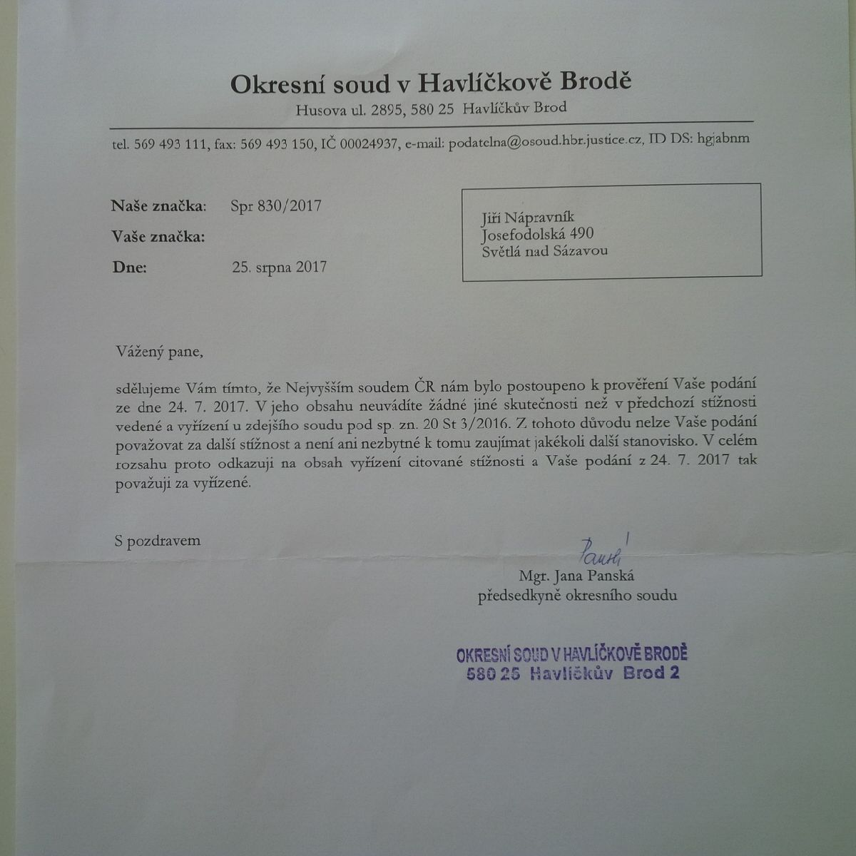 OS HB Napravnik 250817