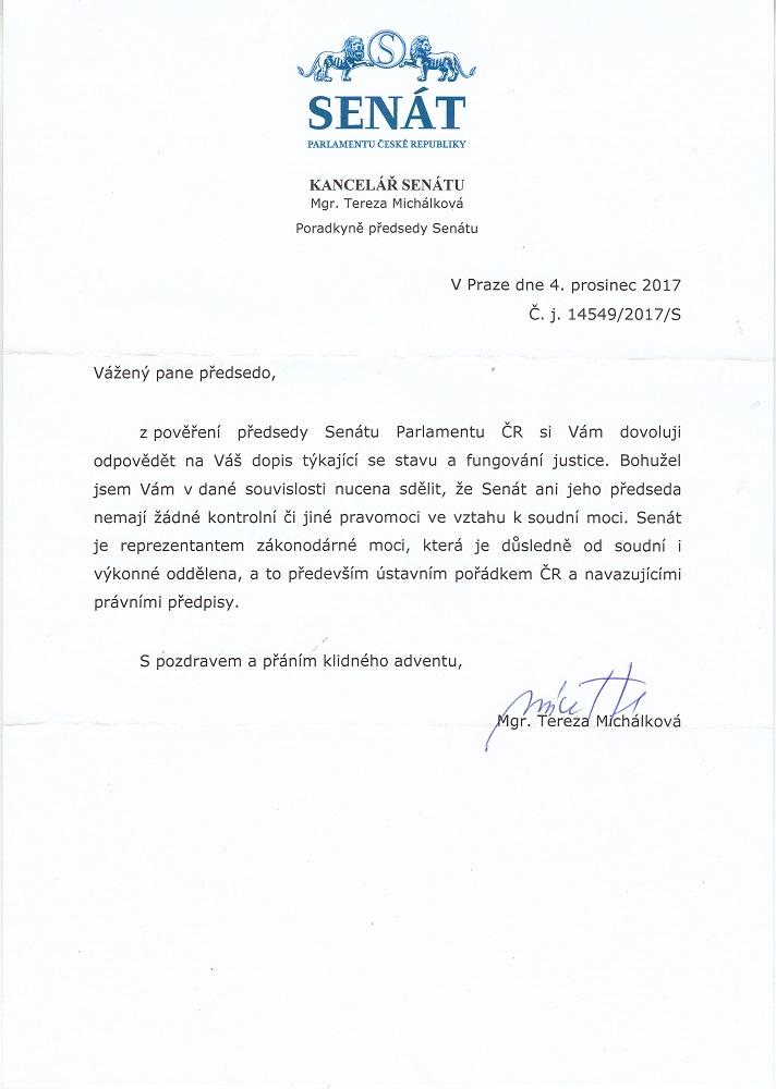 Senat Bajcar odpoved 041217